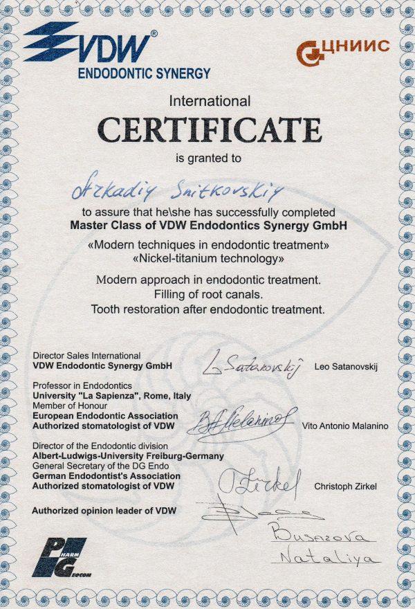 Master Class of VDW Endodontics Synergy GmbH