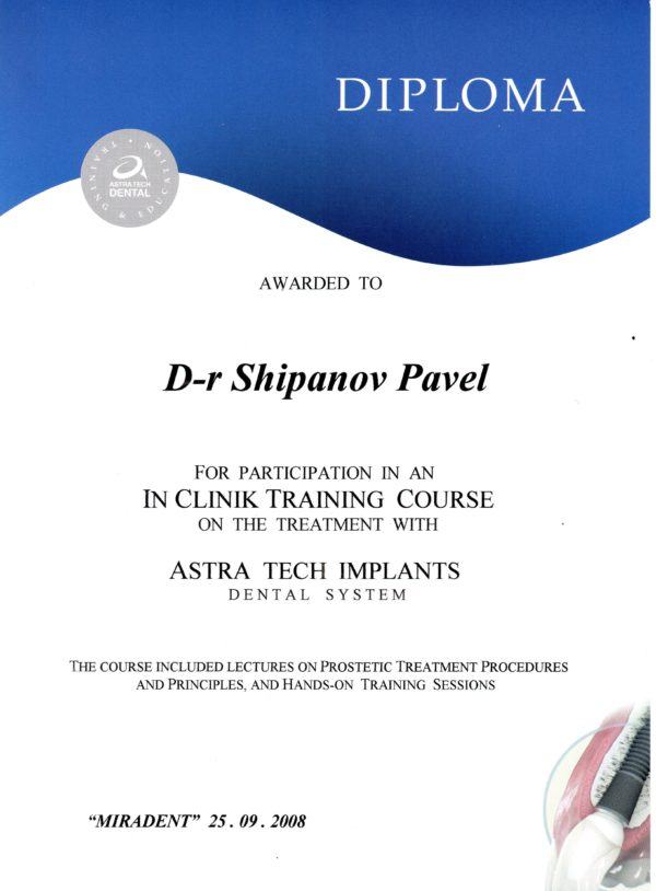 2008.09.25 IN CLINIK TRAINING COURS ASTRA TECH IMPLANTS