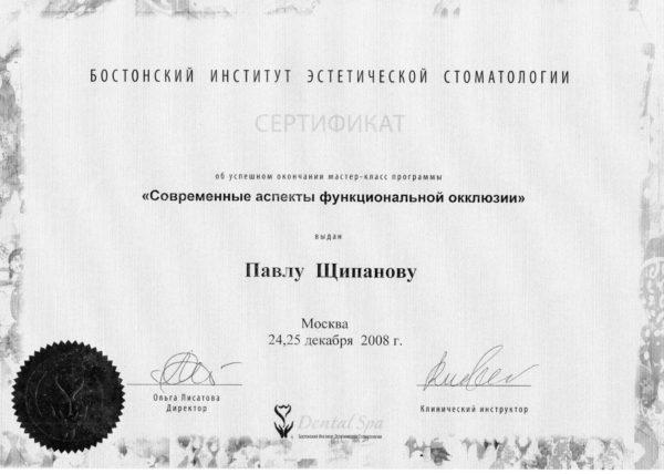 2008.12.24-25 Современные аспекты функциональной окклюзии
