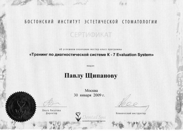 2009.01.30 Тренинг по диагностической системе K-7 Evalution System