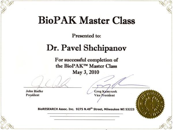 2010.05.03 BioPAK Master Class
