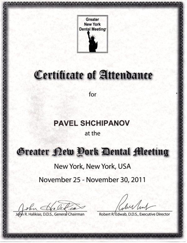 2011.11.25-30 Creater New Dork Dental Meeting
